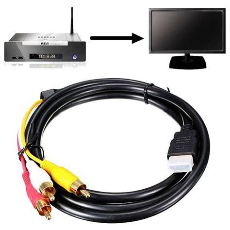 Kabel Hdmi To Vga 1 5m By Raja Ol 5ft 1 5m hdmi to 3 rca audio av component converter