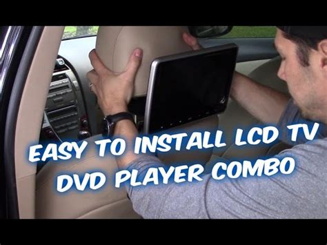 how to install tv in car dvd headrest monitor installation video hd www