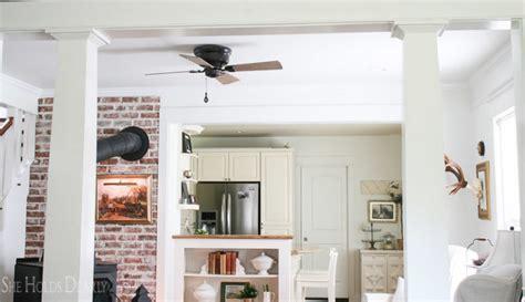 industrial farmhouse ceiling fan diy industrial ceiling fan she holds dearly