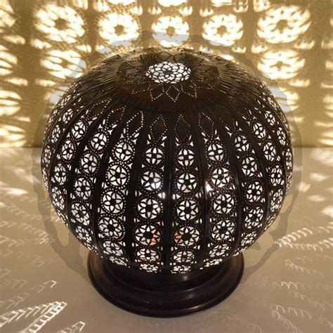 Buy Sphere Shape Moroccan L Of Pierced Bronzed Iron 35