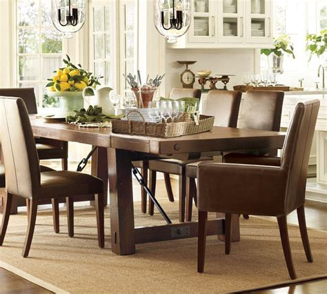 Black Metal Dining Room Chairs classic dining room design with pottery barn rectangular