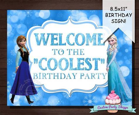frozen printable welcome frozen birthday party welcome sign decorations diy