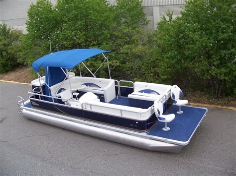 new pontoon boats new 24 ft el bowfish grand island pontoon boat boat for