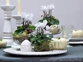 dekoration weihnachtstischdeko alpenveilchen dekorieren als tischdeko tische dekorieren