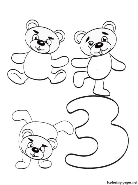 coloring page of the number 3 free coloring pages of the number 3