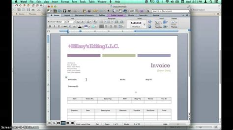 how do i use a template in word creating invoices using microsoft word templates