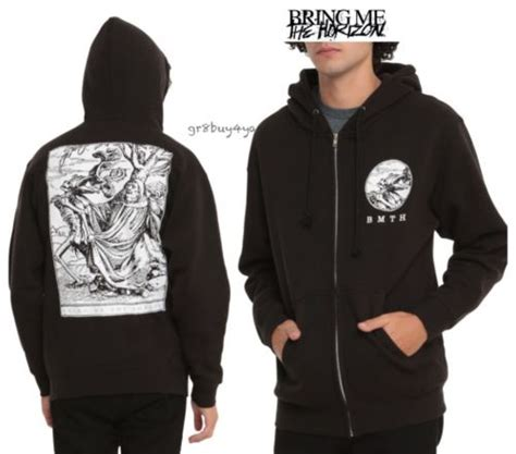 Hoodie Zipper Birng Me The Horizon Cloth 1 Nwt Licensed Bmth Bring Me The Horizon Tarot Black Zip