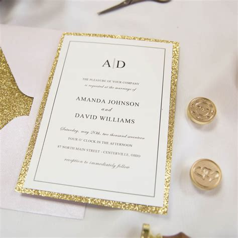 Wine And Gold Template Wedding Invitation Card Sle by Glittery Wedding Invitations