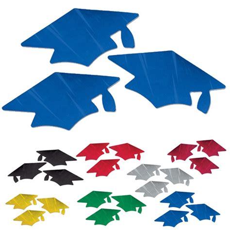 metallic graduation cap cutouts partycheap