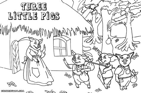 the three little pigs coloring pages free coloring home