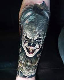 pennywise it movie tattoo best tattoo design ideas
