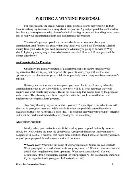 best photos of write a proposal template sle business