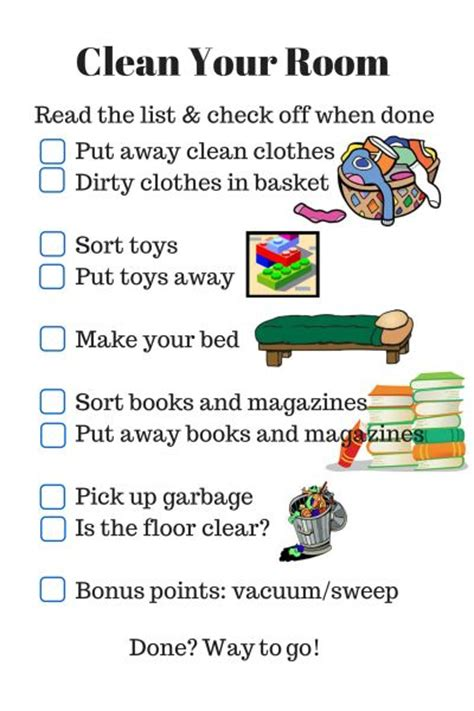 how to clean your bedroom for teenagers 17 best images about chore charts on pinterest cleaning
