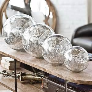 andrew blown mercury glass spheres home decor by candelabra