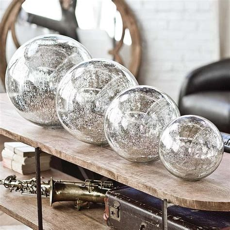 glass home decor regina andrew blown mercury glass spheres home decor