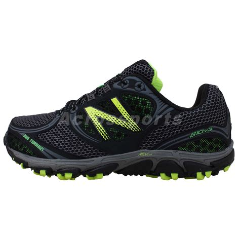 wide trail running shoes new balance mt810gy3 4e wide black green 2014 mens trail