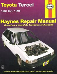 service and repair manuals 1993 toyota tercel electronic toll collection 1987 1994 toyota tercel haynes repair manual