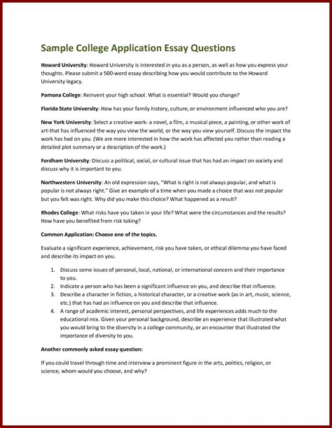 College Application Exle Essay by Writing A Personal Essay For College Resume Cv Cover Letter