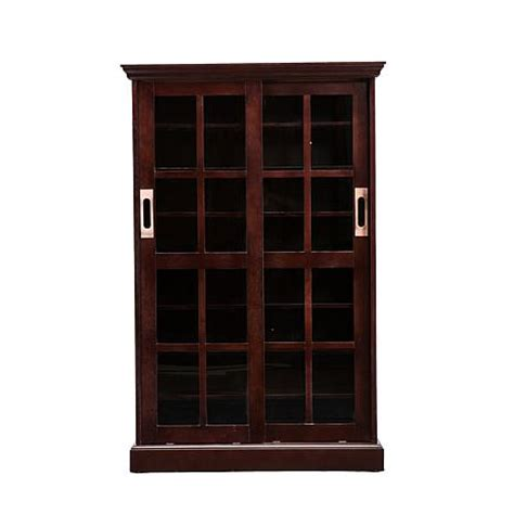 sliding door media cabinet espresso 6408637 hsn