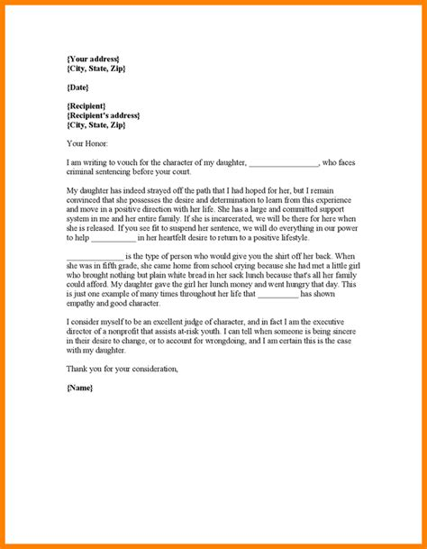 Character Witness Letter Template 5 Character Witness Letter For Court Bid Template
