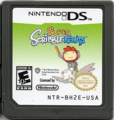 Suit Up Your Nintendo Ds by Scribblenauts 2010 Nintendo Ds Box Cover