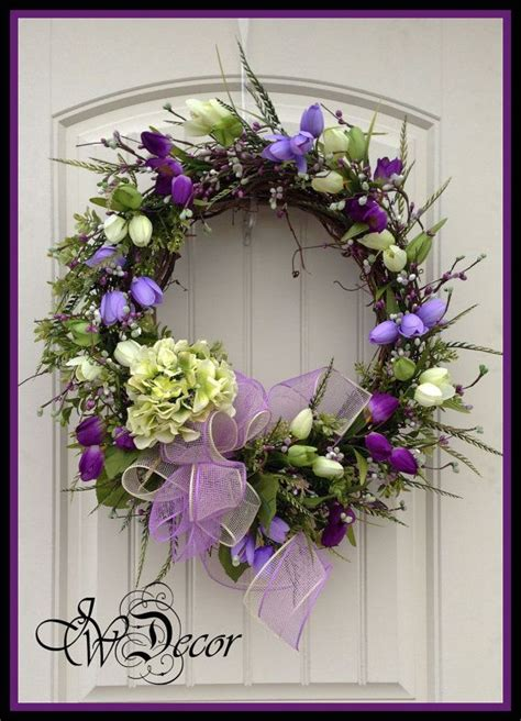 spring door wreath spring wreath wreaths spring door wreath purple