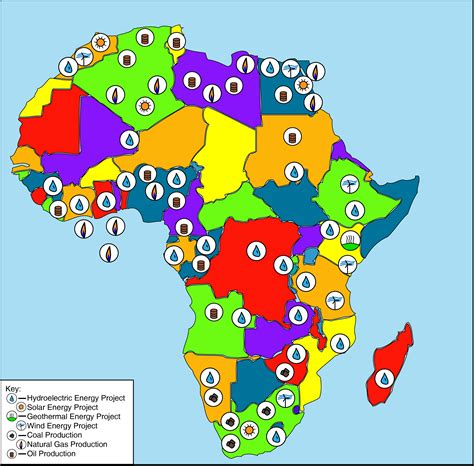 africa map of resources energy in africa wikiwand