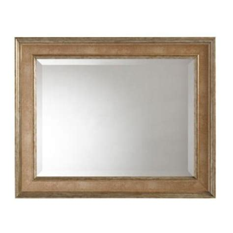 bathroom mirrors home depot martha stewart living lucerne 31 in x 25 in antique