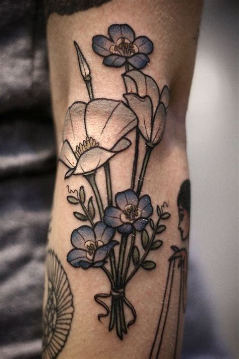 forget me not flower tattoo designs best 25 blue flower tattoos ideas on