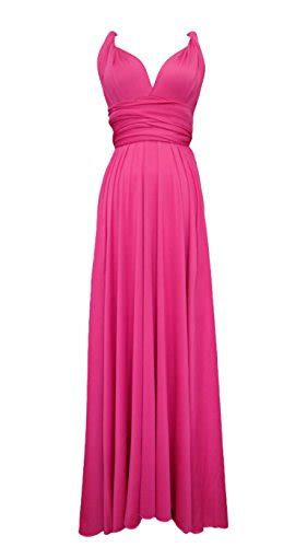 Syarina Pink Soft Abu Dress Bruklat length convertible bridesmaids infinity dress in fuchsia pink buy in uae