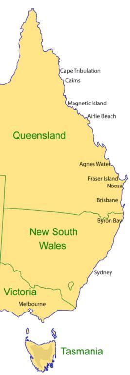 australia east coast map a complete guide travelling the east coast of australia
