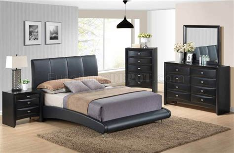global bedroom furniture 8272 linda black 5pc bedroom set by global w options