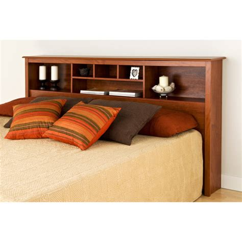 Headboard With Storage King edenvale king storage headboard cherry walmart