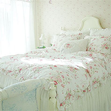 shabby chic cottage bedding interior decorating pics shabby chic bed