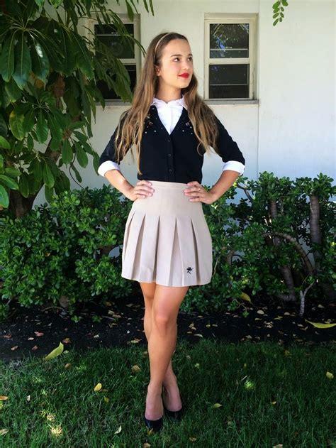 18 year old school girl teen in uniform giselle leon uniform styling tips looks fashion ivabellini