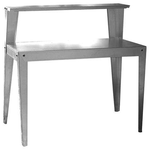 galvanized potting bench potting work station bench table garden steel indoor