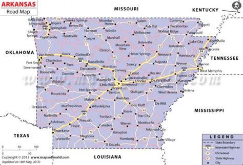 printable road map arkansas map of arkansas holidaymapq com