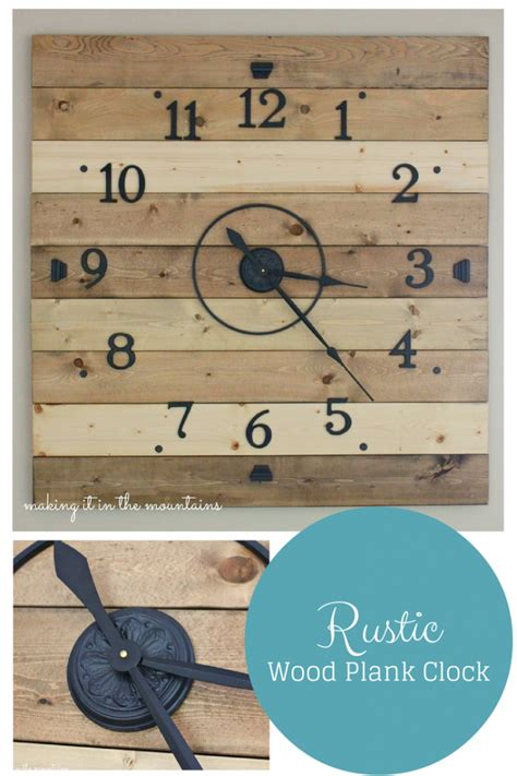diy clock projects 20 awesome diy pallet projects house of four creating a beautiful home one thrifty