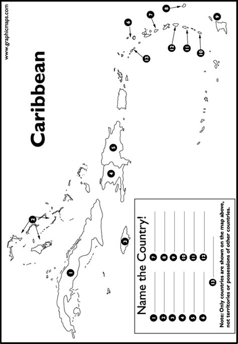 printable world map quiz name the country caribbean country unit study