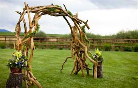 Wedding Arch Made Of Sticks by 10 Images About Driftwood Wedding Arbors On