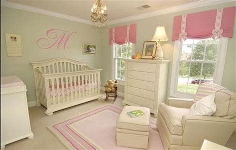 green gingham curtains nursery celery pink accents and pale pink on pinterest