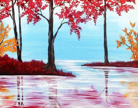 paint nite island calendar paint nite fall lake