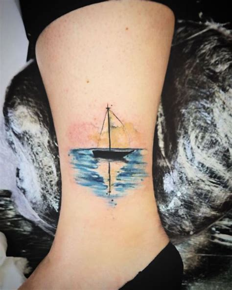 boat hand tattoo little boat done today studio xiii gallery