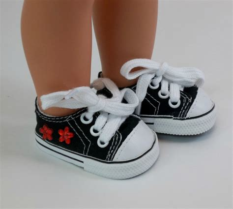 how to make shoes for american dolls 18 inch doll shoes american doll black sneakers with