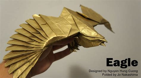 How To Make An Origami Eagle - origami giveaway 5 eagle nguyen hung cuong doovi