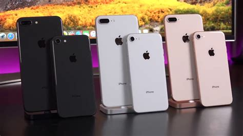 apple iphone 8 vs 8 plus unboxing review all colors