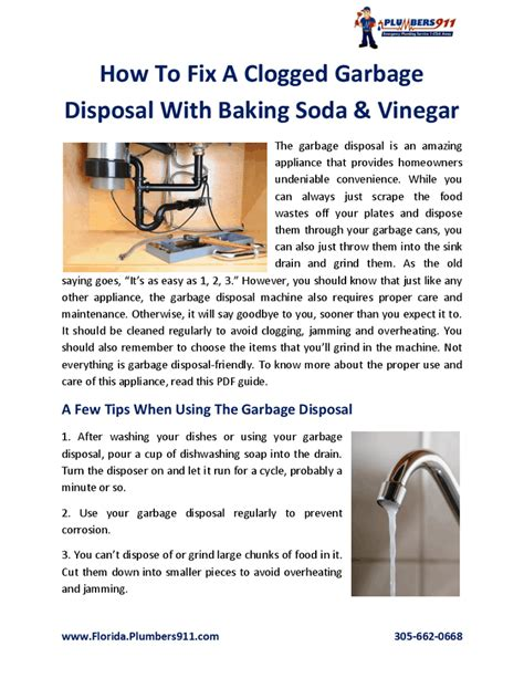 how do you fix a clogged kitchen sink how to fix a clogged garbage disposal with baking soda