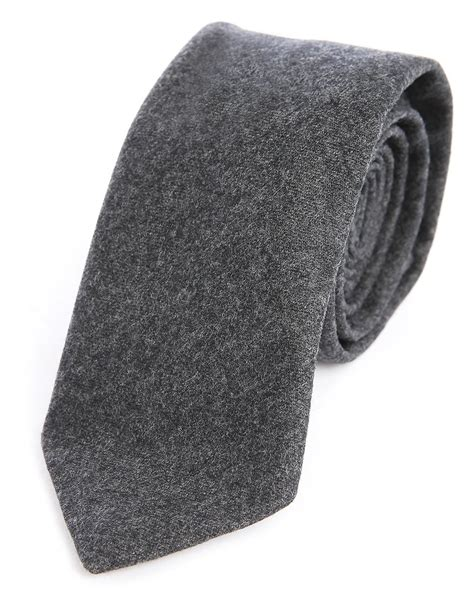 m studio gray charcoal daniel wool tie for lyst