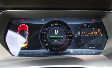 tesla model s instrument cluster 2015 tesla model s instrument cluster photo on automoblog net