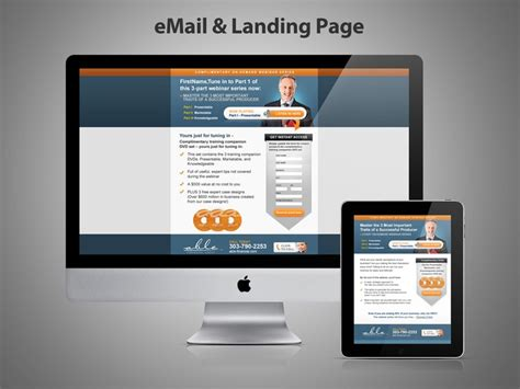 email landing page